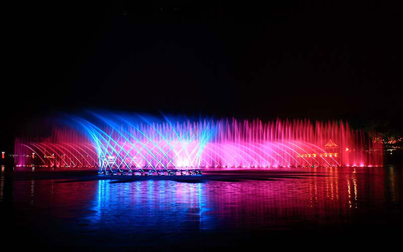 Large 3D Dancing Musical Fountain Project