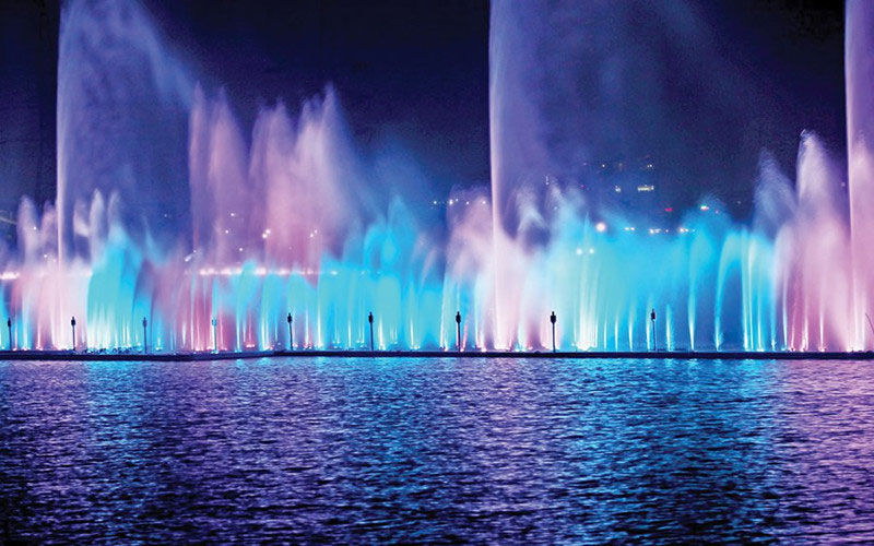 Musical Fountain DMX Technology Control Panel Design